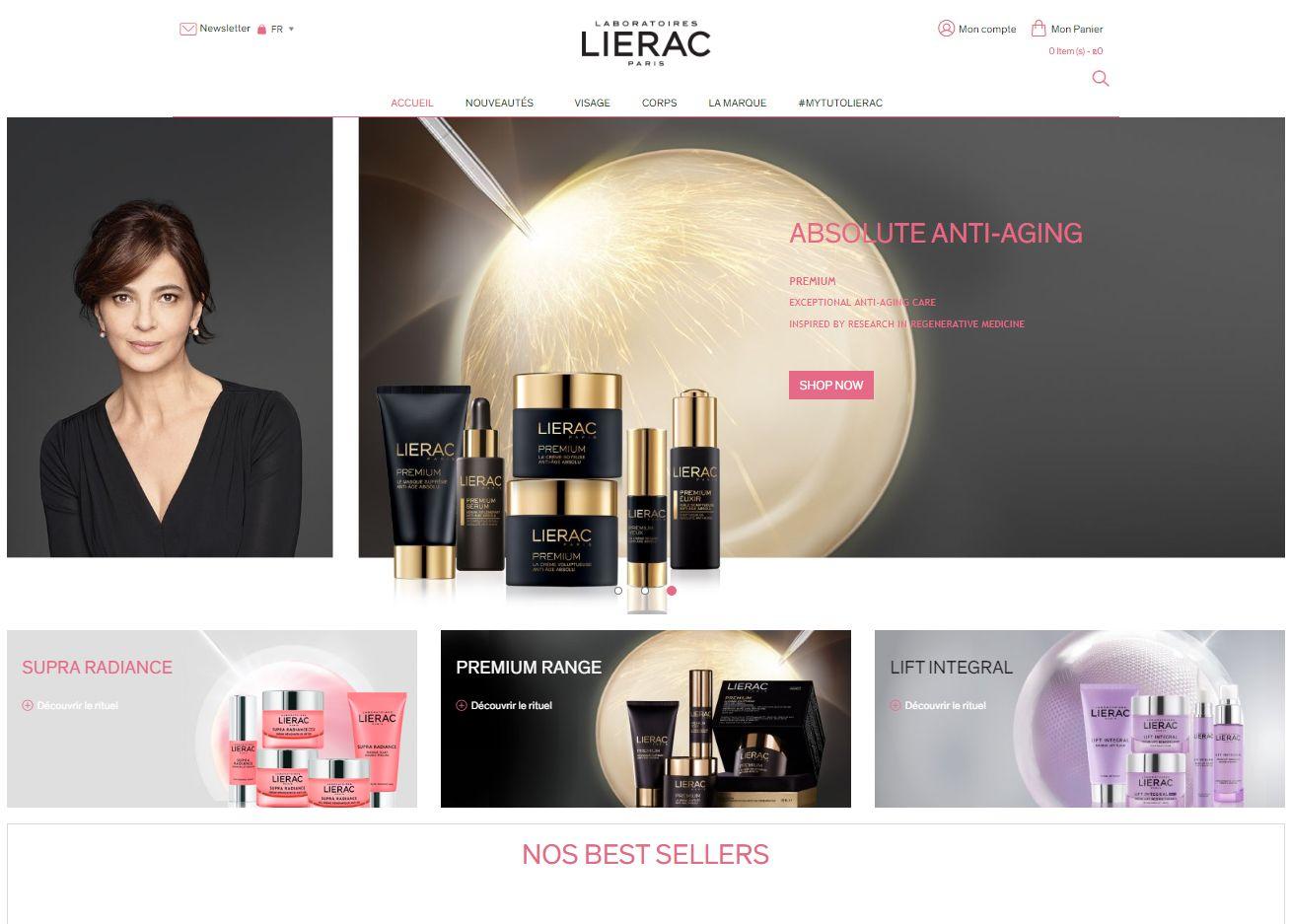 lierac - cosmetic shop